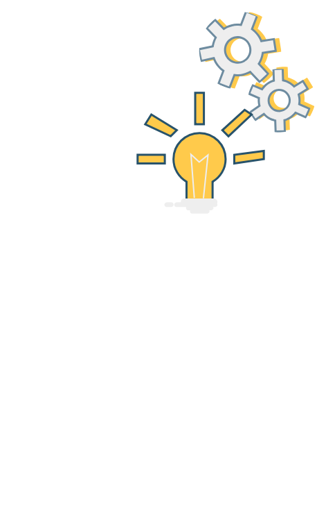Illustration representing the thinking process.